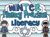 Winter Fluency Practice {Letter Naming and Sound Fluency}