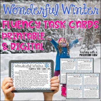 Winter Fluency Task Cards