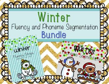 Winter Fluency and Phonemic Awareness Bundle