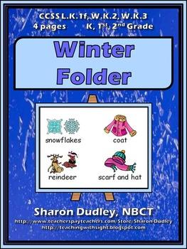 Winter Writing Folder