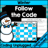Winter Coding Unplugged - Follow the Code | Printable & Digital