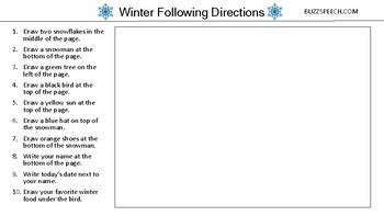 Winter Following Directions