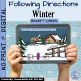 Winter Following Directions With Prepositions Digital Boom Cards™