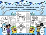 Winter Following Directions Coloring Bundle!