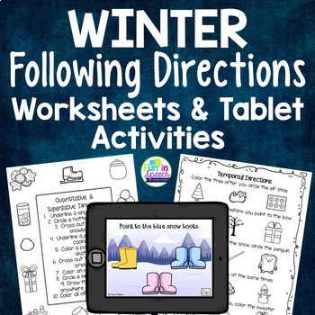 Winter Themed Following Directions Tablet Activity & Printable ...