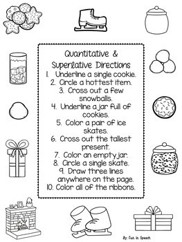 Winter Themed Following Directions Tablet Activity & Printable Worksheets