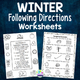 Winter Following Directions Worksheets - Speech Therapy Activity