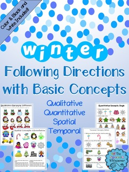 #warmupwithsped3 Winter Following Directions with Basic Concepts