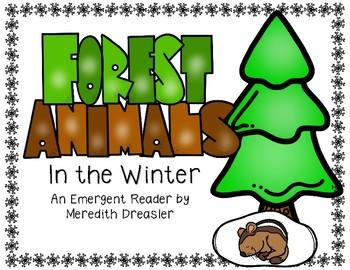 Winter Forest Animals Emergent Reader