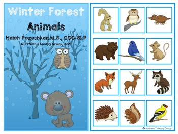 Winter Forest Animals Interactive Vocabulary Book
