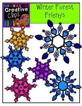 Winter Forest Friends {Creative Clips Digital Clipart}