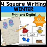 4 Square Writing Templates Winter | Four Square Writing