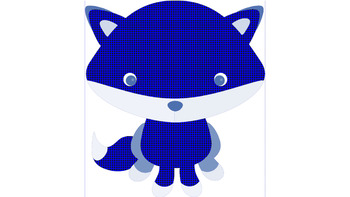 Winter Foxes Clip Art
