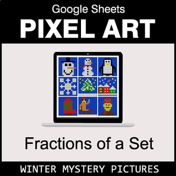 Winter - Fractions of a Set - Google Sheets Pixel Art
