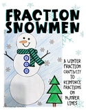 Distance Learning - Winter Fractions on a Number Line - 3.3B TEKS