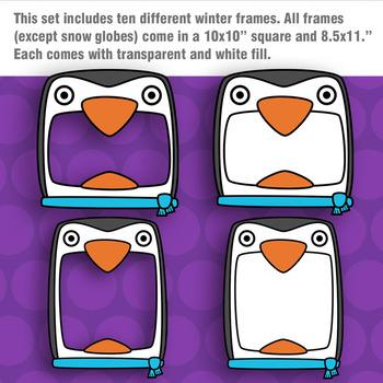 Winter Frames Clipart