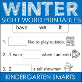 Winter Sight Words Free