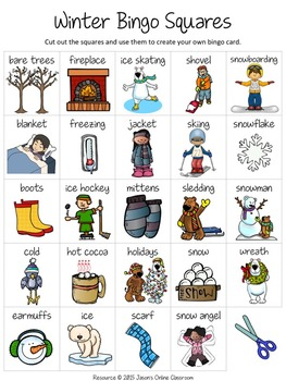 Winter Free Create Your Own Luck Bingo