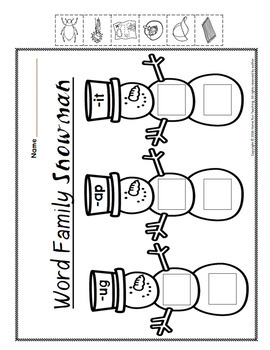 FREE December Math and Literacy Printabes