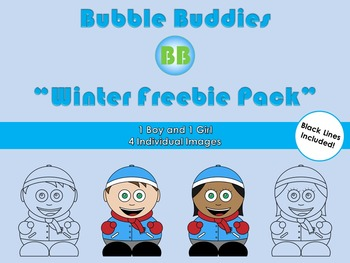 Winter Freebie Clipart: Bubble Buddies for Commercial and