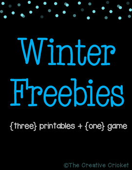 Winter Freebies! 3 Printables + 1 Game