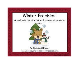 Winter Freebies! Common Core, math and literacy