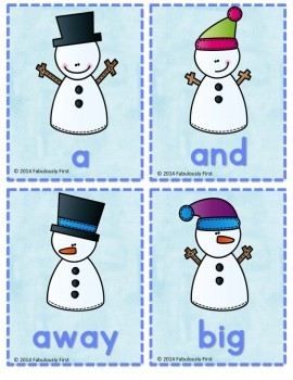 Winter Freeze Game (Dolch Sight Word Game)
