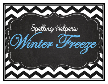 Winter Freeze Theme Word List- English and French