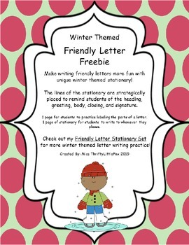 Winter Friendly Letter Freebie