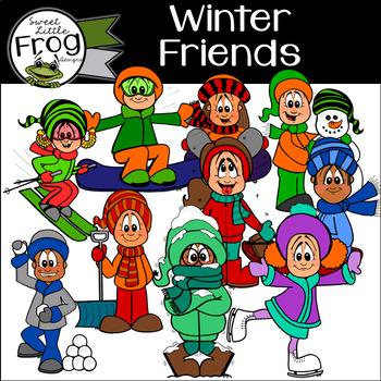 Winter Friends Clip Art