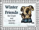 Winter Friends Bar Graph and Line Plot Activity
