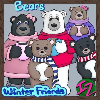 Winter Friends: Bears