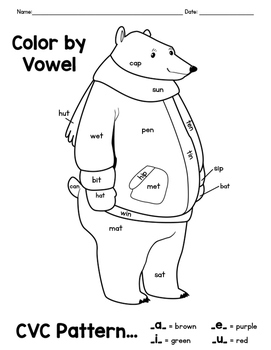 vowel coloring pages - photo#39