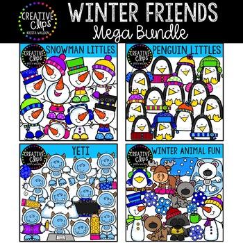 Winter Friends Clipart Bundle {Creative Clips Clipart}