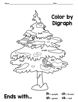 Winter Friends Color By Digraph Coloring Pages