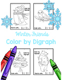 Winter Activity Color By Digraph Coloring Pages