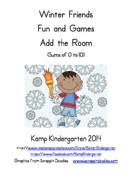 Winter Friends Fun and Games Add the Room (Sums of 0 to 10)