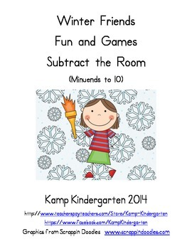 Winter Friends Fun and Games Subtract the Room (Minuends to 10)