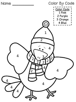Winter Friends /  Kindergarten { An Emergent Reader and Color By Number Code}