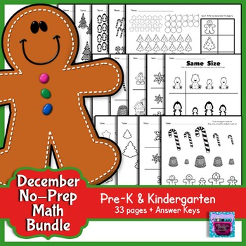 Winter Math Activity - Prek and Kindergarten