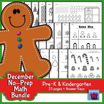 Winter Math Bundle - Prek and Kindergarten