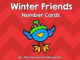 Winter Friends Number Cards