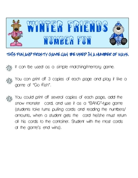 Winter Friends Number Fun K-1