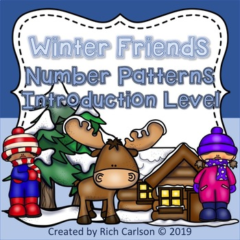 Winter Friends Number Patterns Introduction Level! Winter FUN! (Black Line)