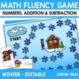 Math Fluency:  Winter Editable