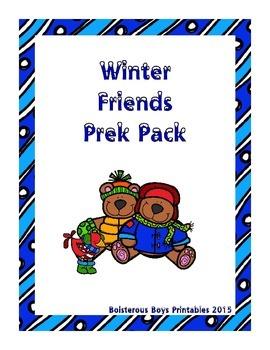 Winter Friends PreK Thematic Printable Pack