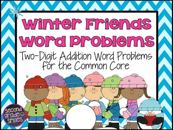 2-Digit Addition Word Problems (Task Cards)