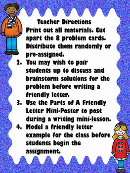 Friendly Letter Writing Practice By Emily Gibbons The Literacy Nest