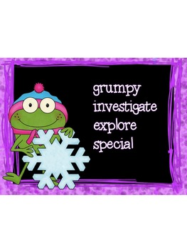 Winter Froggy Tier 2 Vocabulary Game