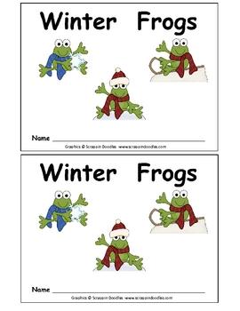 Winter Frogs- Kindergarten Emergent Reader book